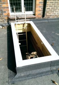 Flat Roof Window Upstand Example