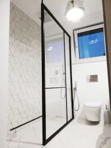Steel Shower Screen